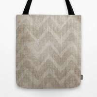 Chevron burlap (Hessian series 1 of 3) Tote Bag by John Medbury (LAZY J Studios) | Society6