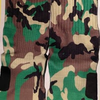 Military Camouflage Camo Custom Nike Elite Sock