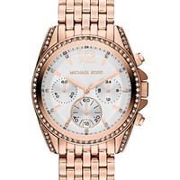 Michael Kors Women's Chronograph Pressley Rose Gold-Tone Stainless Steel Bracelet Watch 39mm MK5836