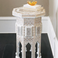 "Ivory ""Moroccan"" Table - Horchow"