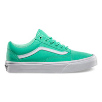 Vans Old Skool, Womens (biscay green/true white)