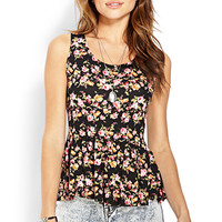 La Bella Rose Peplum Top