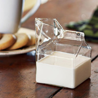 Glass Carton for Milk & Cream - Set of 2