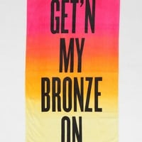 Bronze Beach Towel - Urban Outfitters