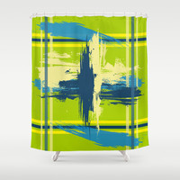Center Stage Shower Curtain by Ramon Martinez Jr