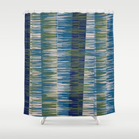 Ode to Rouilli Shower Curtain by Ramon Martinez Jr