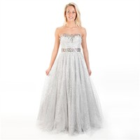 Bella™ Juniors Sequined Ball Gown with Full Skirt at Von Maur