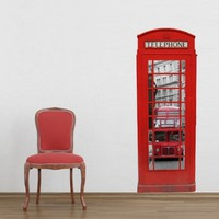 London Phone Booth Sticker | Moon Wall Stickers