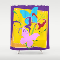Butterfly 08 Shower Curtain by Ramon Martinez Jr