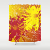 Abstract 137 Shower Curtain by Ramon Martinez Jr
