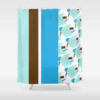 Retro Pattern 01 Shower Curtain by Ramon Martinez Jr