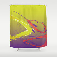 Abstract 138 Shower Curtain by Ramon Martinez Jr