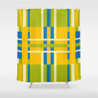 Goldfinch Fusion Shower Curtain by Ramon Martinez Jr