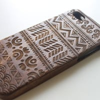 Walnut Wood iPhone 5c Case, Wooden iPhone 5c Case, Tribal iPhone 5c Case