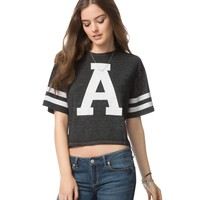 """A"" Cropped Graphic T"