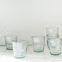 gathered goods | hand blown glass cups | set of 4