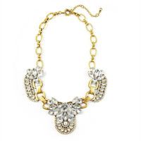Starra Crystal Necklace - Gold + Ice | Daily Chic