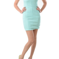 Vanity Fair Cutout Dress - Mint | Daily Chic