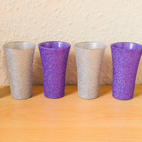 Glittery Shot Glasses Hand Decorated BUY 5 GET 1 FREE
