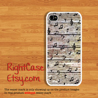 NOTE MUSIC IPHONE 4S Case Vintage Wood Song Samsung Galaxy S4 Galaxy S3 iPhone 5 Case iPhone 4 Cover iPhone 5S Case 5C Wooden Phone Cases