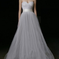 Custom Sweetheart Neckline Tulle Wedding Dress/Bridesmaids Dress/Prom Dress K232