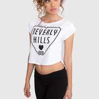 Beverly Hills Crop Top - White