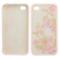 Snap-on Hard Pink Orchid Flower Skin Case Cover for iPhone 4 4G free shipping