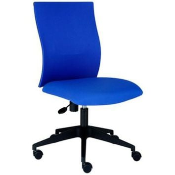 Kaja Blue Contemporary Office Chair - #4Y632 | LampsPlus.com