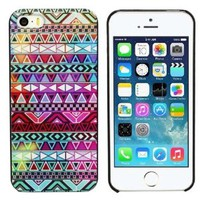Aokdis New Hot Selling Fashional Individualized Hard Back Case for Iphone 5 5g 5s (Colorful Tribe Pattern)