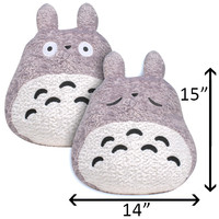Japanese Plush Toys - AFG - Totoro Two Sided Pillow 15"