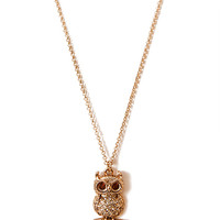 Quirky Owl Pendant Necklace