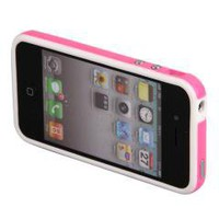 Metal Buttons Pink Bumper Case Cover for iPhone 4 4G 4s free shipping