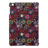 Modern Flower Pattern Fabric iPad Mini Case