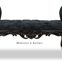 Fabulous and Baroque — Fabulous and Baroque's Absolom Roche Bench - Black