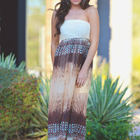 Her Bright Skies Maxi - Mocha
