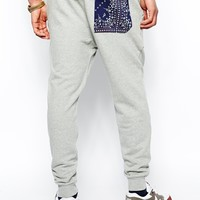 Evisu Genes Sweat Pant Tapered Fit Bandana Pocket