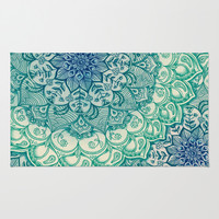 Emerald Doodle Area & Throw Rug by Micklyn