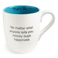 Santa Barbara Design 'That's All - Money Buys Happiness' Mug | Nordstrom
