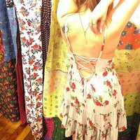Free People Womens Circle of Flowers Slip -