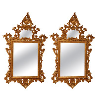 Pair of fine italian carved giltwood mirror