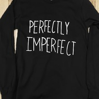 Perfectly Imperfect-Unisex Black T-Shirt