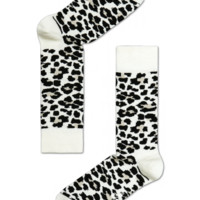 Cool fun socks at Happy Socks, black & white Leopard print for happy people!