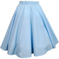 Blue Pastel Swing Skirt | Style Icon`s Closet