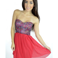 The Strapless Red Sequin Dress - 29 N Under