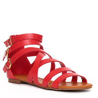Red Julia Gladiator Sandal - Furor Moda - Tops - Dresses - Jackets - Vintage