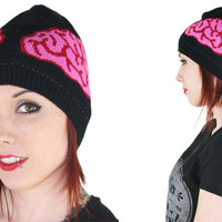 Brains Skull Cap Beanie by Too Fast Clothing - SALE - Winter Hats/Beanies