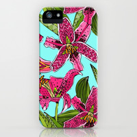 stargazer lilies iPhone & iPod Case by Sharon Turner | Society6