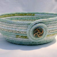 Baby Shower Green Coiled Fabric Bowl
