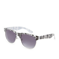 F9428 Half-Frame Square Sunglasses
