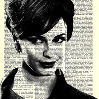 "Joan Harris - Mad Men - Paper Ephemera - 8x11 - Dictionary Art Print "" Print on Vintage repurposed paper - Dictionary Art Print"